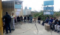 جانب من اعتصام اهالي مخيم نهر البارد أمام مكتب