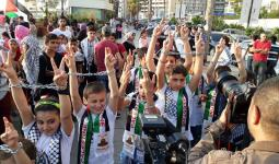 وقفة بمنطقة الروشة دعماً لإضراب الأسرى في سجون الاحتلال
