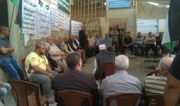 جانب من اعتصام اهالي نهر البارد تضامناً مع الأسرى