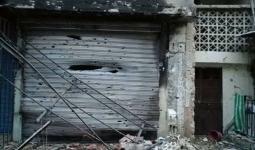 جانب من الأضرار في مخيم عين الحلوة