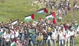 صورة أرشيفية من مسيرة العودة عند الحدود شمال فلسطين المحلتة عام 2011