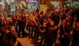 اندلاع مواجهات عقب انطلاق مسيرة من مخيّم قلنديا