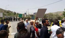 خلال احدى المسيرات في مناطق الضفة المحتلة دعماً للاسرى في سجون الاحتلال