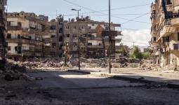 صورة أرشيفية لمنطقة غرب مخيم اليرموك