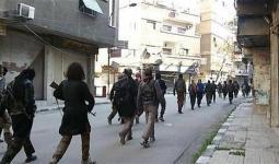 عناصر داعش في مخيم اليرموك