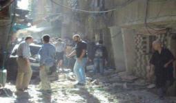 صورة أرشيفية من شارع الجاعونة خلال المجزرة