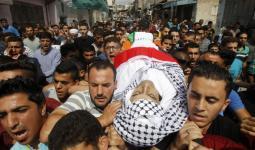 جانب من تشييع جنازة الشهيد محمد أبو هشهش- مخيم الفوار