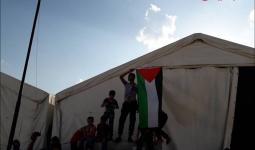 لاجئون في مخيّم أعزاز