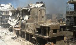 مما تبقّى من مخيّم اليرموك