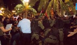خلال قمع شرطة الاحتلال تظاهرة حيفا 18 أيّار.