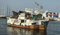 لجنة كسر الحصار: دماء شوهدت على متن سفينة كسر الحصار عن غزة