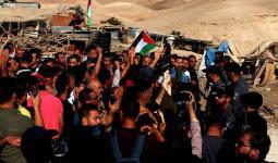 الاحتلال يقوم بعمليّات تجريف في مُحيط الخان الأحمر لليوم الثاني على التوالي