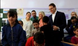 من زيارة وليّة عهد السويد لمدرسة تابعة لوكالة الغوث في مُخيّم البقعة للاجئين