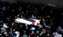 الفلسطينيّون يُشيّعون الشهيد الصيّاد أبو عودة