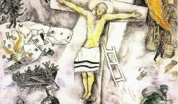Marc Chagall عام 1938- the white crucifixion