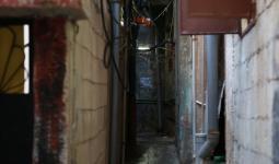 جورة التراشحة في مخيّم برج البراجنة تغرق بمياه الأمطار