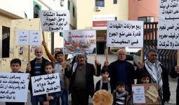 مسيرة ضد تفشي الفقر في مخيم عين الحلوة - لبنان