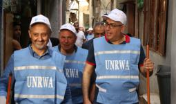 حملة نظافة في مخيم برج البراجنة - بوابة اللاجئين الفلسطينيين