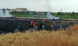 أبناء المخيم تمكنوا من  إخماد الحريق الذي لم تعرف أسبابه