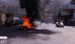 من مظاهرة الغضب في مخيم برج البراجنة جنوبي بيروت