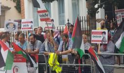 أمام السفارة اللبنانية في لندن