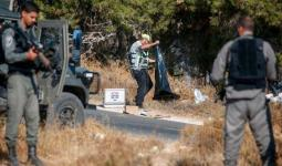 فلسطين المحتلة - من المكان الذي عُثر فيه على الجندي القتيل