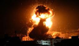 طيران الاحتلال يشن غارات على مناطق مُتفرقة في قطاع غزة