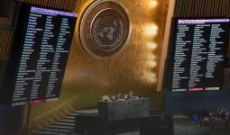 من جلسة الجمعية العامة لتجديد التفويص لأونروا كانون أول/ ديسمبر 2019
