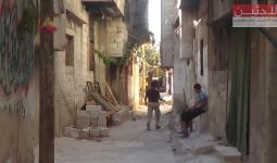 إحدى حارات مخيم درعا