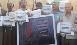 الفلسطينيون المهجّرون يعتصمون وسط خيامهم في