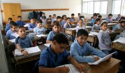 صورة أرشيفية لطلاب فلسطينيين في احدى مدارس الأونروا