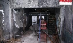 إحدى المحلات المتضررة في مخيم عين الحلوة