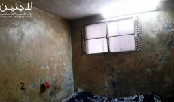 الصور المُرفقة بالتقرير لمنازل من مخيّم عسكر قبل الترميم وبعد الترميم