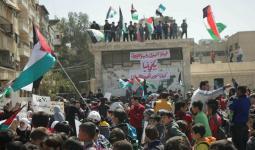أبناء مخيّم اليرموك يُطلقون فعاليات مسيرة العودة إلى فلسطين