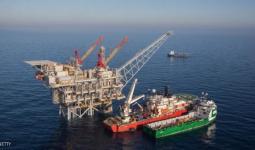 إحدى مضخات الغاز الصهيونية قبالة سواحل فلسطين المحتلة