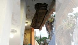 انهيار منزلين في مخيم عين الحلوة وصيدا خلال المنخفض الجوي