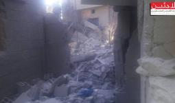 الدمار جراء القصف على مخيم خان الشيح