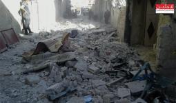 مخيم خان الشيح.. 4 إصابات بينهم طفل حالته حرجة ودمار كبير في المنازل