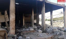 اثار القصف على مخيم خان الشيح (أرشيفية)