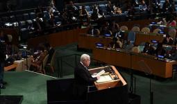 محمود عباس امام الجمعية العامة للامم المتحدة