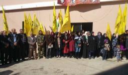 أهالي مخيّم برح الشمالي في لبنان يتظاهرون تضامناً مع أهالي بلعين في الضفّة