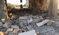 منزل الأسير أحمد القنبع في جنين المحتلة عقب هدمه من قِبل قوات الاحتلال