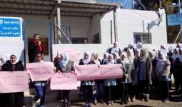 اعتصام في مخيم الفارعة احتجاجاً على سياسة