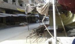 سوريا- الطريق الواصل بين مخيّم اليرموك ويلدا