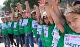 بعض الأطفال المشاركون في السباق