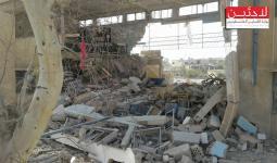 مخيم خان الشيح.. القصف يدمر مدرسة تابعة للأونروا ويحدث أضرارا كبيرة في منازل المدنيين