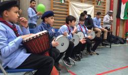 جانب من النشاطات التي تخللت اليوم التثقيفي للأطفال الفلسطينيين في الدنمارك