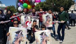 ناشطون في حملة وعد الشمس في قطاع غزة