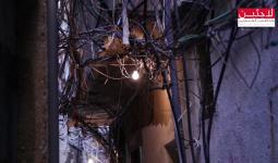 أسلاك الكهرباء المتشابكة في مخيم برج البراجنة
