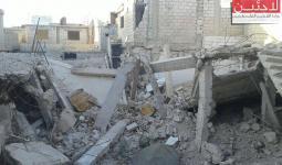 من اثار الدمار في مخيم درعا للاجئين الفلسطينيين